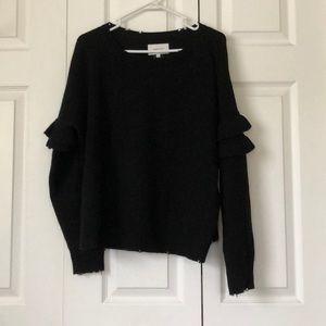 Current Elliot size 2 distressed black sweater